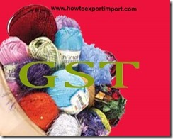 GST for manmade staple fibres in India
