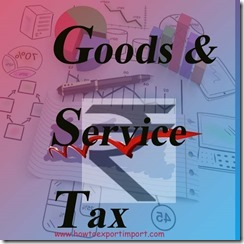 Indian Budget 2015-16 Goods and service Tax, GST
