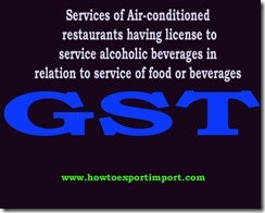 GST on Services of Air-conditioned restaurants