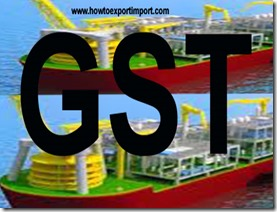 GST payable for sale of Boats, floating structures and ships