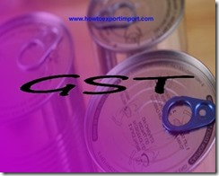GST payable for sale of Tin and Tin products