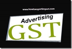 GST rate for Advertising Agency Service