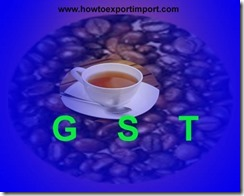 GST rate for Coffee and Tea in India