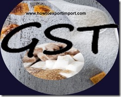 GST rate for Sugar Industry in India
