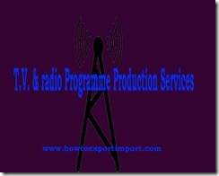 GST rate for TV and radio Programme Production Services