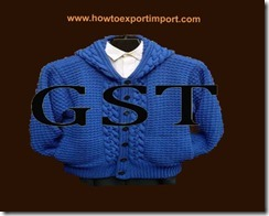 GST rate for made up textile articles, clothing and worn textiles, sets