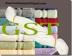 GST rate for ropes, twine, wadding, special yarns, felt etc.