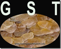 GST rate for sale of Gums, resins, lacs etc.