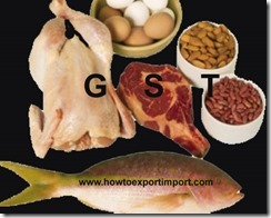 GST slab rate for sale of animal origin products