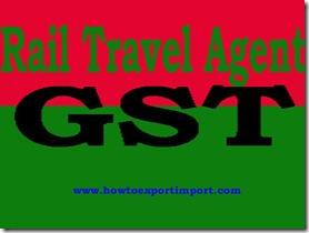 GST tariff for Rail travel agent Services