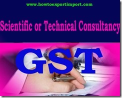 GST tariff for Scientific or technical consultancy Services