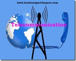 GST tariff rate for Telecommunication services