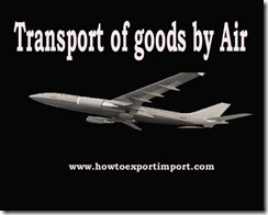 GST tariff rate for Transport of goods by Air