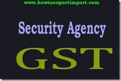 GST tax for Security agency services