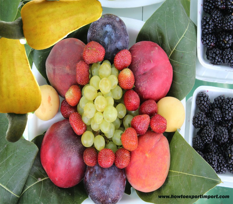 Guidelines to export Preparations of Vegetables, Fruit, Nuts or
