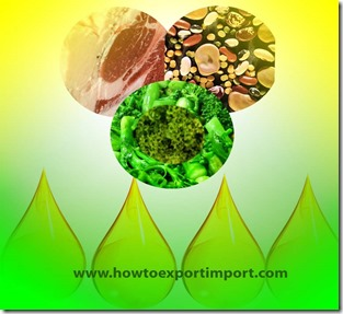 Guidelines to  importers of Animal fats, Animal oil, vegetable fats,vegetable oil