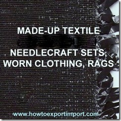 63 MADE-UP TEXTILE ARTICLES NESOI, NEEDLECRAFT SETS, WORN CLOTHING, RAGS