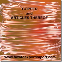 74 COPPER ARTICLES THEREOF