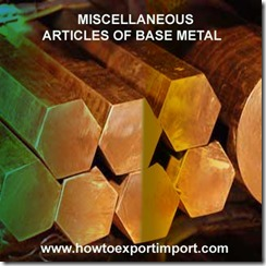 83 MISCELLANEOUS ARTICLES OF BASE METAL