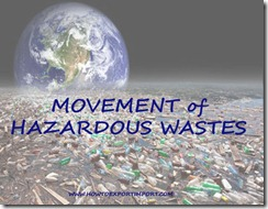 HAZARDOUS WASTES MANAGEMENT HANDLING TRANSBOUNDRY