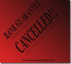 How and when to cancel Bank guarantee and bond copy