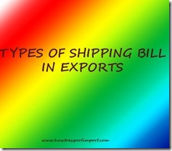How many types of shipping bills in export copy