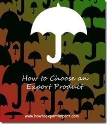 How to Choose a product for export business copy