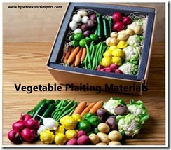 Vegetable Plaiting Materials