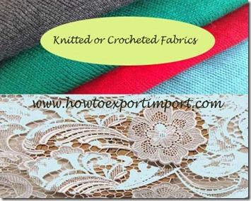 60 KNITTED OR CROCHETED FABRICS - How to import
