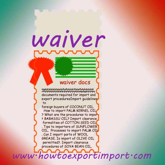 How to obtain waiver on detention/ demurrage on imported
