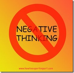 How to overcome Negative thoughts in export business copy