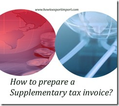 How to prepare a Supplementary tax invoice