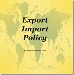 Export Import Policy 1