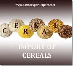 How to import cereals