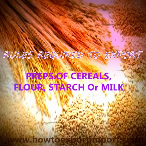 Indian tariff code itc for preps of cereals flour Cuisines you tarifs