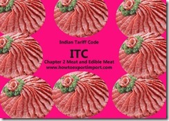 Indian Tariff Code ITC chapter2