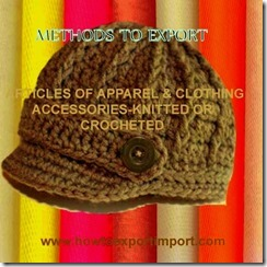 61 ARTICLES OF APPAREL  CLOTHING ACCESSORIES-KNITTED OR CROCHETED