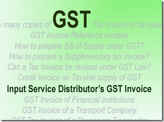 Input Service Distributor's GST Invoice