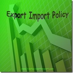 Export import policy 2015-20