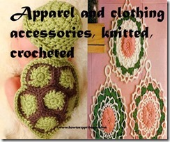 apparel and clothing accessories, knitted,crocheted