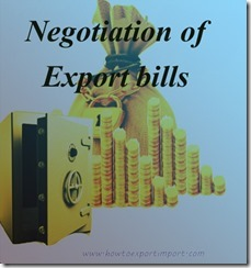 Negotiation procedures and formalities of export bills copy