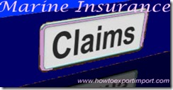 Procedure and Documentation for Filing Claim of Marine Insurance
