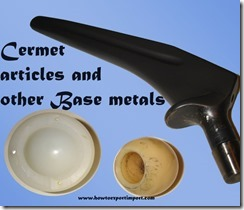 Cermet articles and other Base metals
