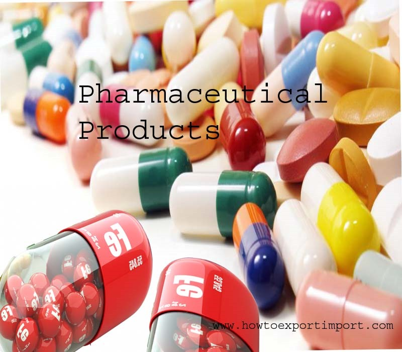 export procedure of pharmaceuticals products