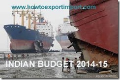 Reduction of BCD on Ships imported for breaking up