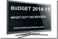 Reduction of import duties on LED,LCD,Television, Computer, Laptop,Tablets