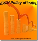 EXIM policy OF INDIA 2015-20