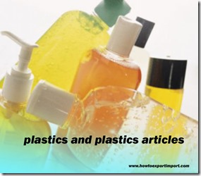 plastics and plastics articles