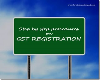 Step by step help for using GST common web portal for GST enrolment in India for existing VAT payers