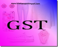 Tariff rate of GST for articles of not knitted or not crocheted apparel and clothing